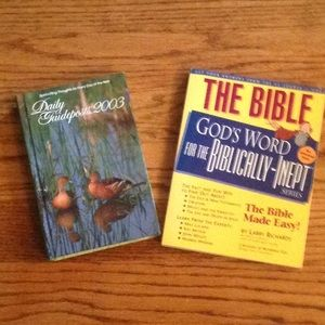 2 books - Daily Devotional and a Bible Guide.
